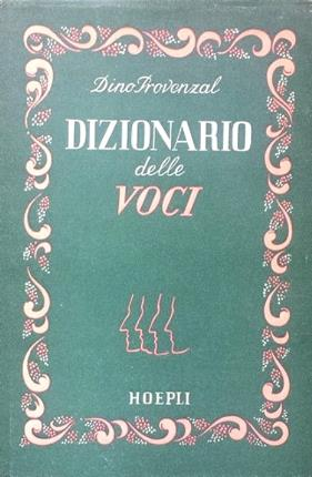Dizionario delle voci.